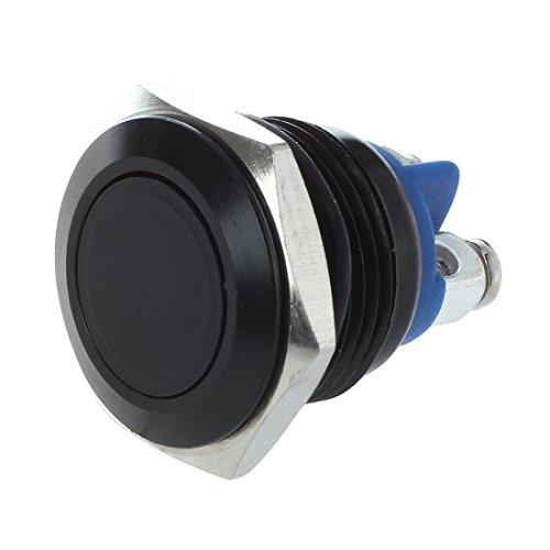 WOVELOT Bouton Poussoir Interrupteur Noir 16mm 12V Pour Klaxon Voiture Auto