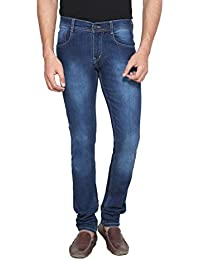 ANSH FASHION WEAR Men's Jeans - Contemporary Slim Fit Denims For Men - Washed Mid Rise Comfortable Jeans