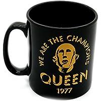 Queen We Are The Champions negro en caja regalo alta calidad Taza café oficial