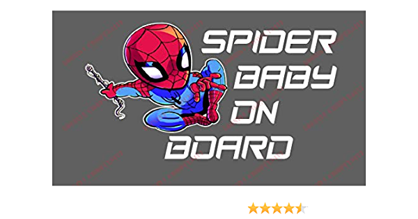 Spiderman Baby On Board Sticker for Car and Motorbike