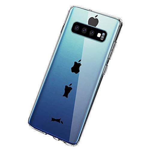 Lasvos Transparent Handyhülle Kompatibel mit Galaxy S10,Crystal Clear Soft TPU Silikon Transparent Ultra Dünn Handyhülle Durchsichtige Floral Schutzhülle Case für S10 -