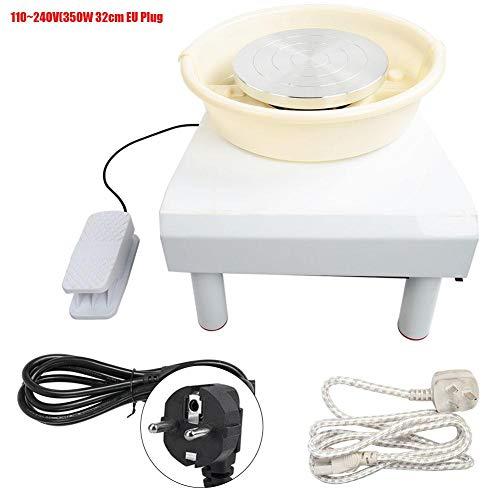 Töpferscheiben Maschine, 3 Fuß Low Noise Haushalt Bürstenlos Keramische elektrische Maschine 0~300r / min Ton Werkzeug für DIY und Keramik(350W 32cm EU Plug)