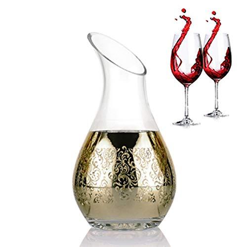 Juan bohorquez Weinkaraffe Edles Und Elegantes Kristallglas Weinaccessoires Home Bar Weingut Home Club Vergoldete Weinkaraffe
