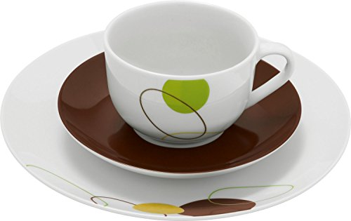 Gepolana Kaffeeservice 18-tlg. Porzellan braun Größe 20 Ø