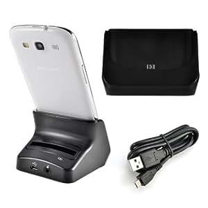 für Samsung Galaxy S3 i9300 S III USB 2.0 DUAL Batterie Akku Ladegerät Dockingstation Ladestation Dockstation m. USB Kabel