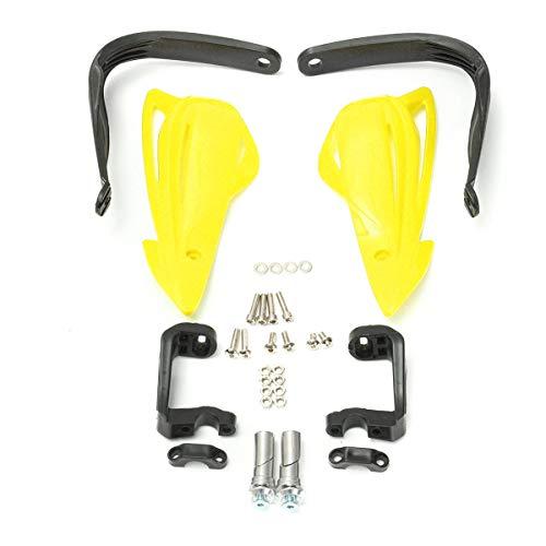PeroFors 22Mm 7/8Inch Universal Motocross Enduro Motorcycle Atv Hand Control Brush Guards-Yellow