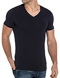 Teddy Smith Basic Navy Blue V-Neck Basic t-Shirt