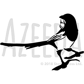 Azeeda A5 'Magpie With Ring' Wall Stencil / Template (WS00002764)