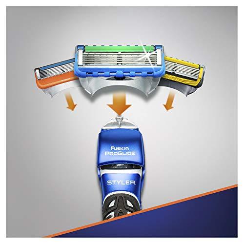 Gillette Fusion ProGlide Styler Rasoio a Batteria con Regolabarba, Regola, Rade e Rifinisce, con 1 Lametta di Ricambio - 7