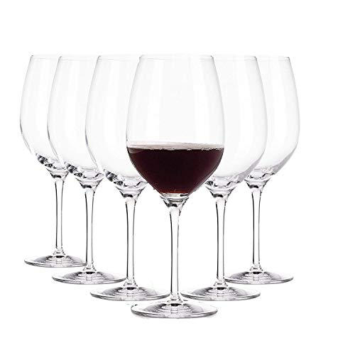 Arcoroc Domaine / Rote Weingläser / Spülmaschinenfest / 6-teiliges Set / geeignet für bis zu 6 Personen / 370 ml