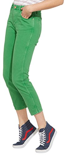 Wrangler Damen Jeans Cropped Straight, Grün (Green 21), W31 (Cropped Pant Denim)