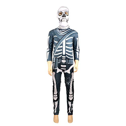 Fancy Themen Wasser Dress Kostüm - BGFDSV Horror Schädel Kostüm Kinder Scary Skeleton Cosplay Kostüme Jungen Halloween Kostüme Für Kinder Scary Fancy Party Dress, Grau, XXXL