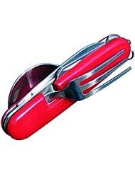 BCB Adventure Cutlery Folding KFS Clip - Cubiertos de acampada