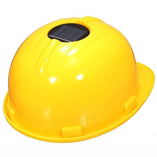 Solar-Sicherheitshelm, harte Ventilation, Kappe mit Kühlventilator, Weihnachtsgeschenk für Bau, Sanitärarbeiter, Motorradfahrer, Feuerwehrmann, gelb
