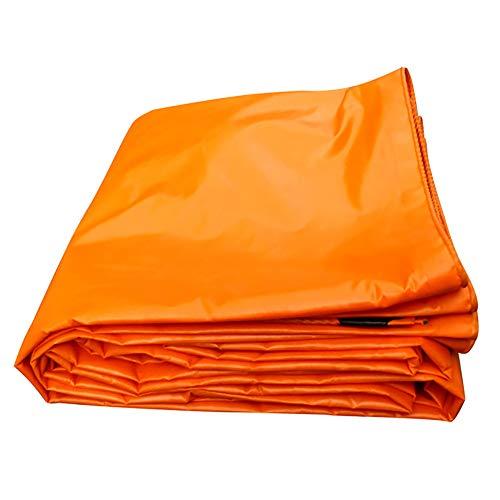 Bâches, Imperméable avec Oeillets Res Résistance À La Déchirure des Toiles De Toile De Tente Robuste - 420g / ㎡, Orange (Taille : 3×5m)