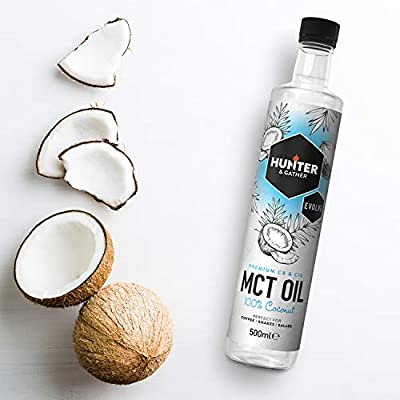 MCT Oil - Derived from 100% Coconuts - Bulletproof Coffee - C8 and C10-100% Coconut Flavorless & Odorless. 500ml from Hunter & Gather