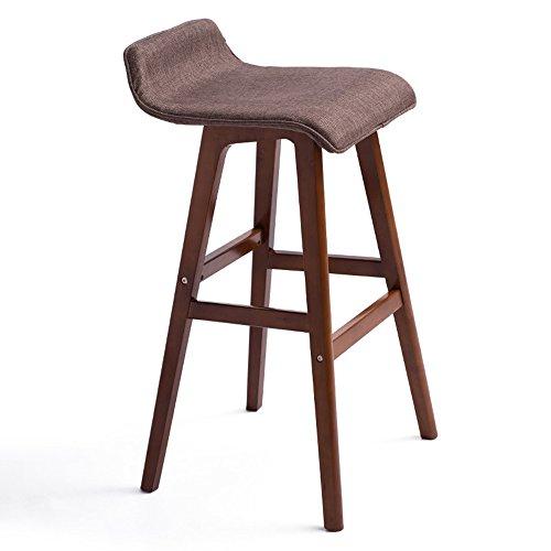 Retro-stil-barhocker (Stools Küche Esszimmerstuhl/Retro Barhocker/kreative Barhocker/europäischen Stil massivem Holz Cafe Hocker/Kassenstuhl/Counter Chair (Zwei Farben, Zwei Größen) (Farbe : Braun, größe : 74cm))
