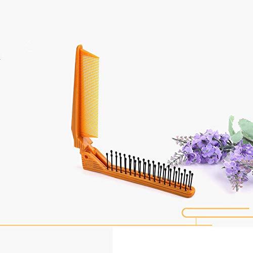 LCZUOADQW Pocket Folding Hair Comb Tragbare zusammenklappbare Haarbürste Reise Kopfhautmassage Kunststoffkamm Tangle Haarbürsten -