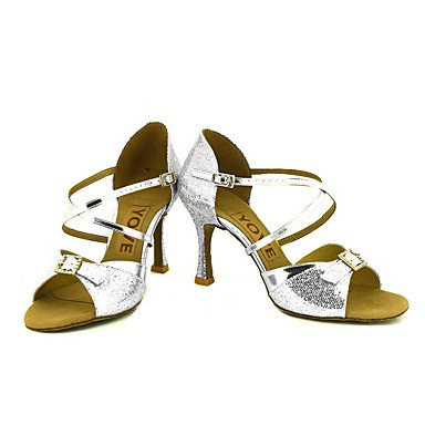 Ruhe @ Damen Beruf Dance Schuhe silberfarben