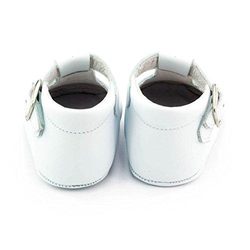 Boni Johan - Chaussons bébé cuir souple Blanc