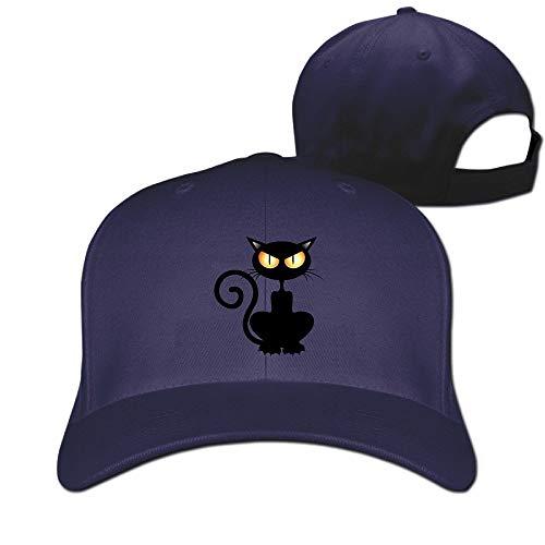 Black Cat Halloween Vintage Pure Color Baseball Caps -