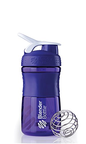 BlenderBottle Sportmixer Tritan Shaker | Protein Shaker | Wasserflasche | Diät shaker (590ml) - lila transparent (Blender-ball-sport-mixer)