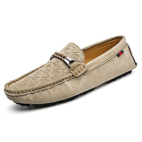 Miyoopark 8608# Men's Casual Rubber Sole Khaki Suede Penny Driving Loafers Fashion Moccasins Boat Shoes UK 6