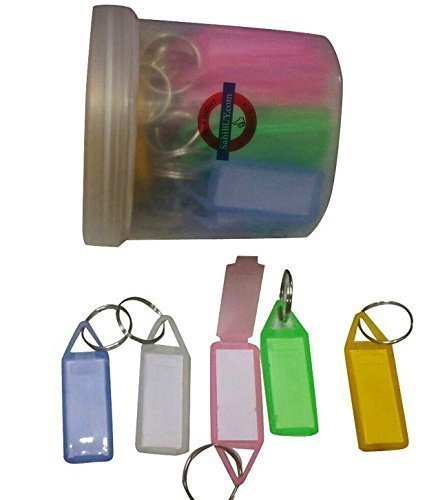 SahiBUY Assorted Key and Tag Label Keychain, Pack of 45