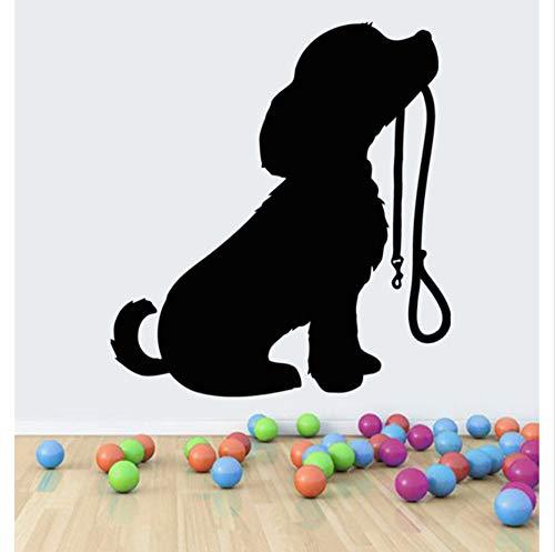 fkleber Aufkleber Wandbilder Dekor Haustiere Welpen Hund Mit Kragen Home Kunst Wandbild Tapete Polyvinyl 56X60 Cm ()