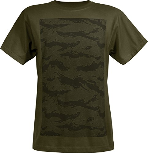 Musterbrand Metal Gear Solid T-Shirt Men Spec Ops Camo 100% Pima Cotton Green