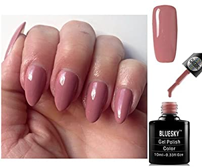 Bluesky QXG80 Naked Nude Tease Neutral Pink Nail Gel Polish UV LED Soak Off 10ml PLUS 2 Homebeautyforyou Shine Wipes