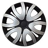 CM DESIGN MIKA Silber Schwarz - 14 Zoll, passend für Fast alle Opel z.B. für Corsa D