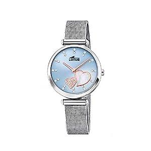Lotus 18615/2 – Reloj Analógico para Mujer, de Cuarzo con Correa en Acero Inoxidable, Azul