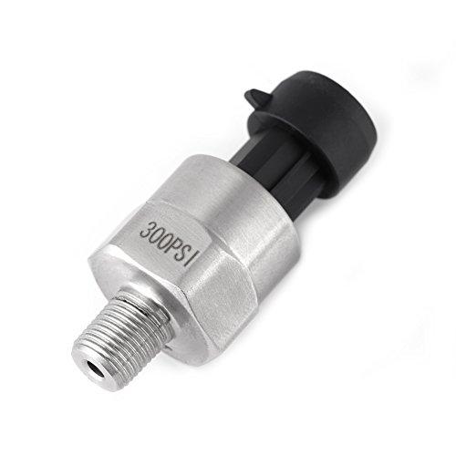 Druckaufnehmer,Edelstahl 1 / 8NPT Gewinde Drucksensor mit vollständigem Überspannungsschutzfunktion,für Öl, Kraftstoff, Diesel, Gas, Wasser, Luftdruck,0,5-4,5V(300PSI)