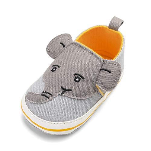 Mymyguoe Kinder Krabbelschuhe Kleinkind Schuhe Infant Baby Mädchen Casual Sneaker Lauflernschuhe mit Cartoon Elefant weichen Sohlen Segeltuchschuhe Rutschfest Leicht Mokassins Prewalker ()