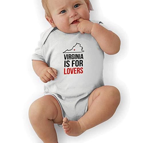 FAFANIQ Virginia is for Lovers Unisex Baby Short Sleeve Bodysuit-0-3M