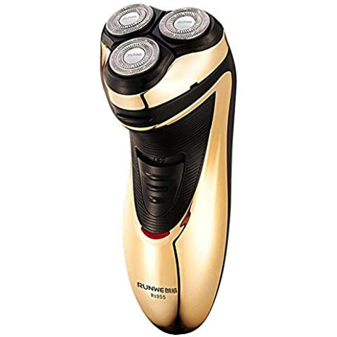 Máquina de afeitar eléctrica recargable Xagoo® tres cabezales de afeitado cabeza flotante de lavado rotatorio para hombre de la barba del bigote maquinillas de