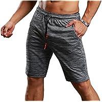 941e80572762ae CLOUSPO Sporthose kurz Herren grau hochwertig bequem mit  Reißverschlusstasche Sport Shorts Jogginghose kurz für Laufsport