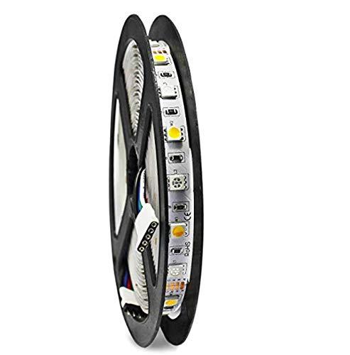 Bande LED RGBW 16.4ft 5M flexible non étanche RVB + blanc 300LEDs Changement de couleur Light Strip (RGBWW Waterproof)