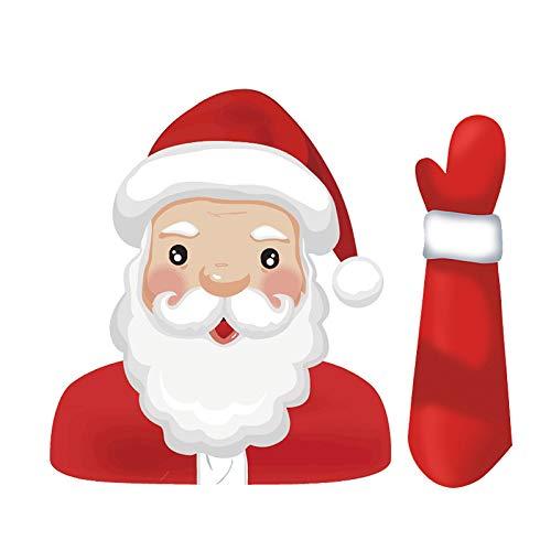 Cycle Crafts Lustige Nette Santa Claus Waving Windshield Wiper Kreative Persönlichkeit Auto Fenster Aufkleber Weihnachten Santa Dekoration -