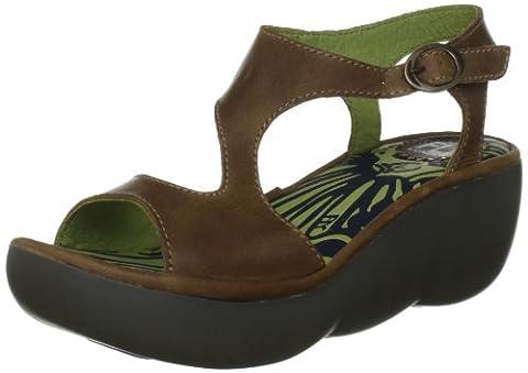 Fly London Bianca, Women's Wedge Heel Sandals, Camel, 5 UK 38 EU