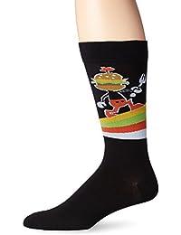 K. Bell Socks Men's Burger Head Crew Sock