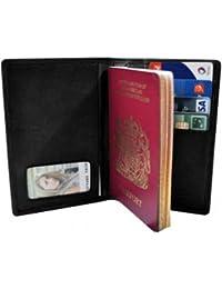 Charmoni - étui Protège Porte Passeport Carte Crédit Pièce D'identité En Cuir De Vachette Neuf Clovis
