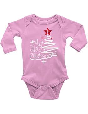 Mikalino Babybody My first Christmas langarm