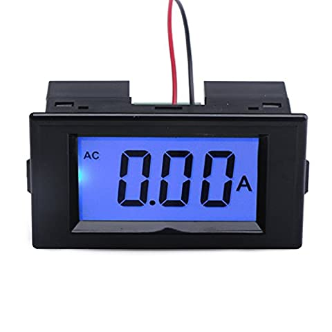 DROK® AC 220V Power Supply Ammeter LCD Digital Display Panel Amp Meter with Precise 50A Current Transformer