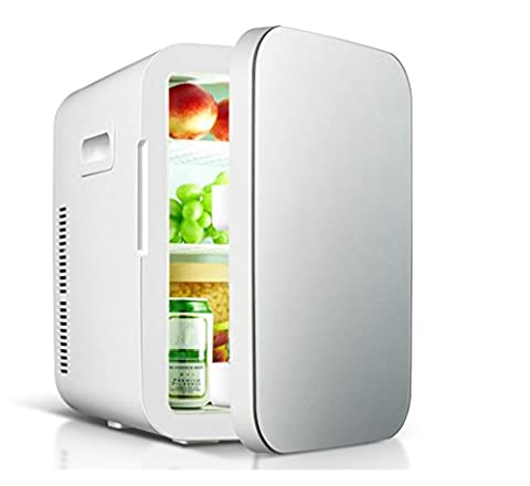 BX 20L Dual-Core Car Refrigerator Mini Mini-Refrigerator Car Home Dual-Use Refrigeration Quarters Warm And Cold Box , Silver,Silver