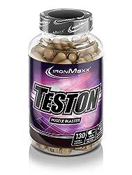 IronMaxx Teston Muscle Blaster - Kapseln mit L-Arginin und Maca für einen normalen Testosteronspiegel im Blut - Ideal für Sportler - 1 x 130 Kapseln