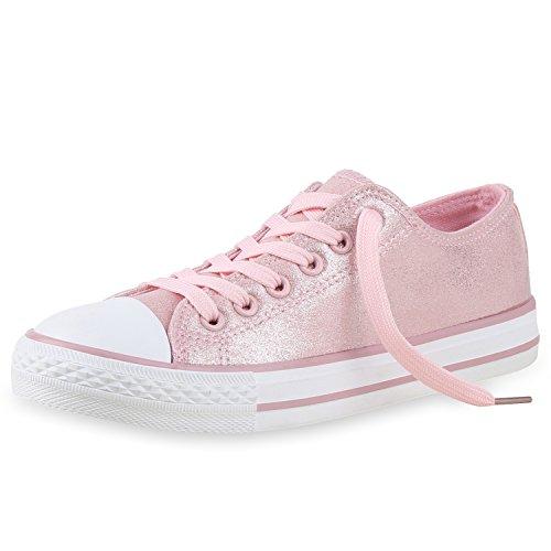 Bequeme Unisex Sneakers | Confortáveis tênis Unissex | Low-cut Modell Basic Freizeit Schuhe Viele Farben Gr. 36-45 Rosa Glitzer Modelo Low-cut Sapatos Básicos De Lazer Muitas Cores Gr. 36-45 Espumante Rosa