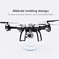 Price comparsion for Dailyinshop S13 2.0MP Camera 4 Channel 6 Axes Long Endurance Remote Control Quadcopter Camera Drone UAV Positioning System Aircraft(Color:silver)