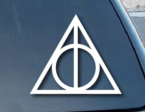 Aufkleber Deathly Hallows Harry Potter Car Window Vinyl Decal Sticker 101mm Wide (Color: White) - White-vinyl Decal Sticker